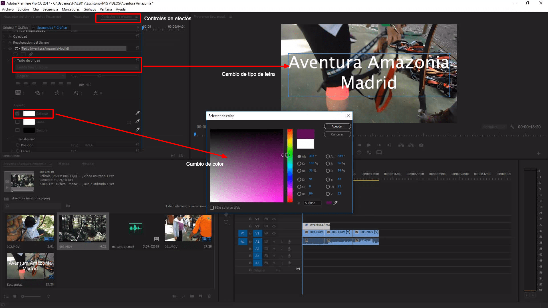 como editar videos para Youtube en premiere