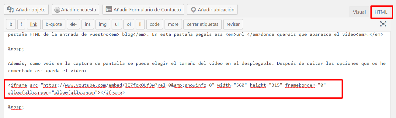 Youtube, WordPress