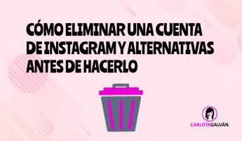 como eliminar cuenta instagram cabecera